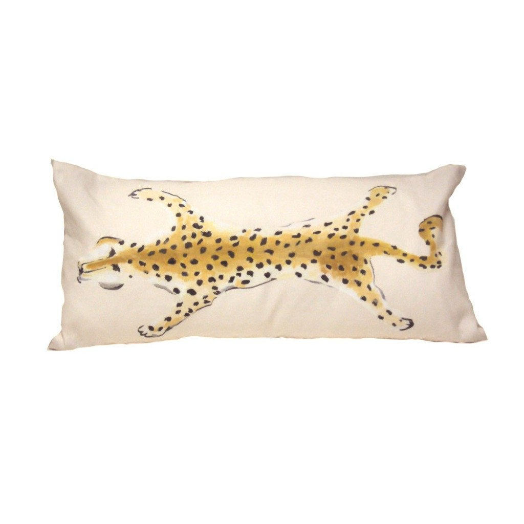 Leopard Lumbar Pillow | Cream