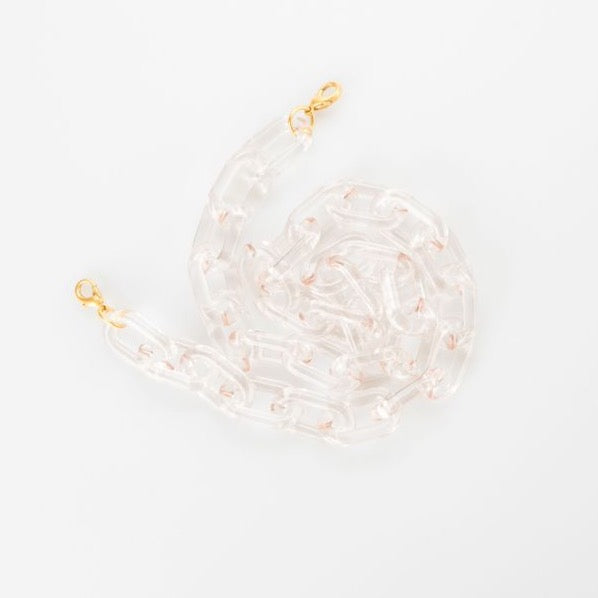 Claire Lucite Mask Chain | Clear