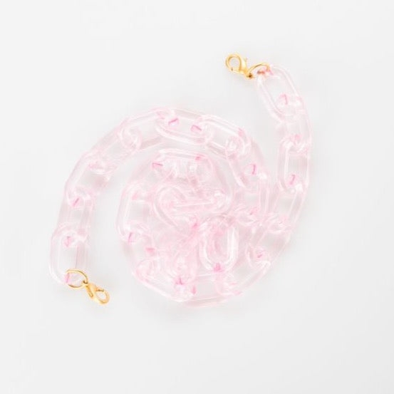 Claire Lucite Mask Chain | Pink