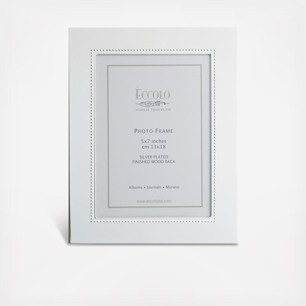 Silverplate Wide Beaded Frame | 5x7
