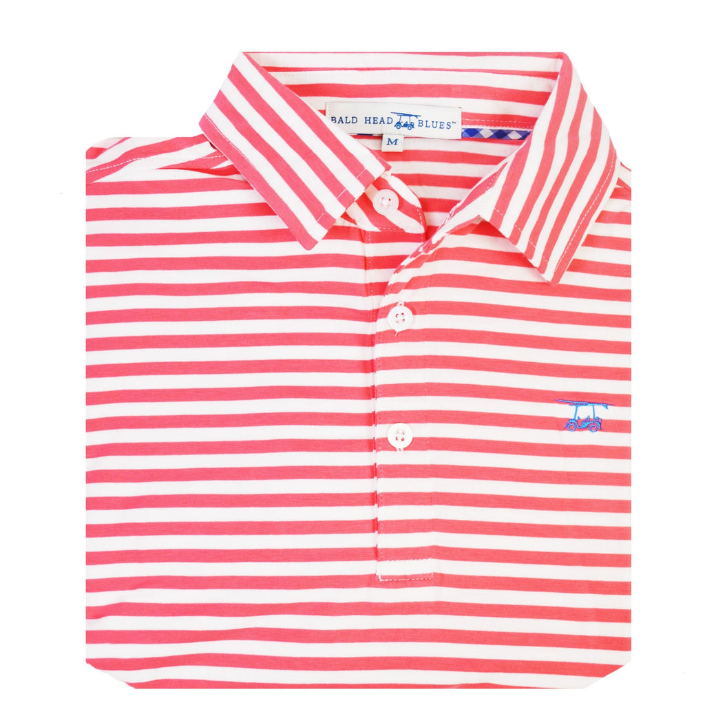Ace Polo | Coral and White