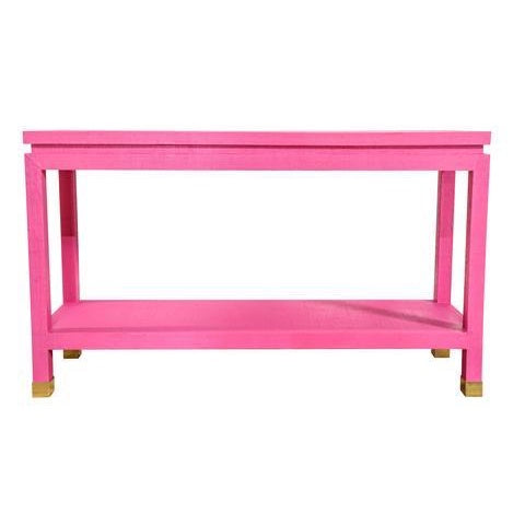 Ming Grasscloth Console-Society Social-The Grove
