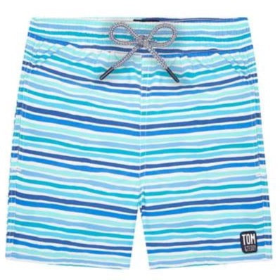 Boys Swim Shorts | Ocean Stripes