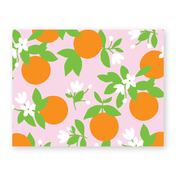 Oranges Note Card | Foldover