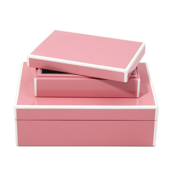 Swing Blossom Pink Lacquer S/O 2 Storage Boxes - thegrovewp