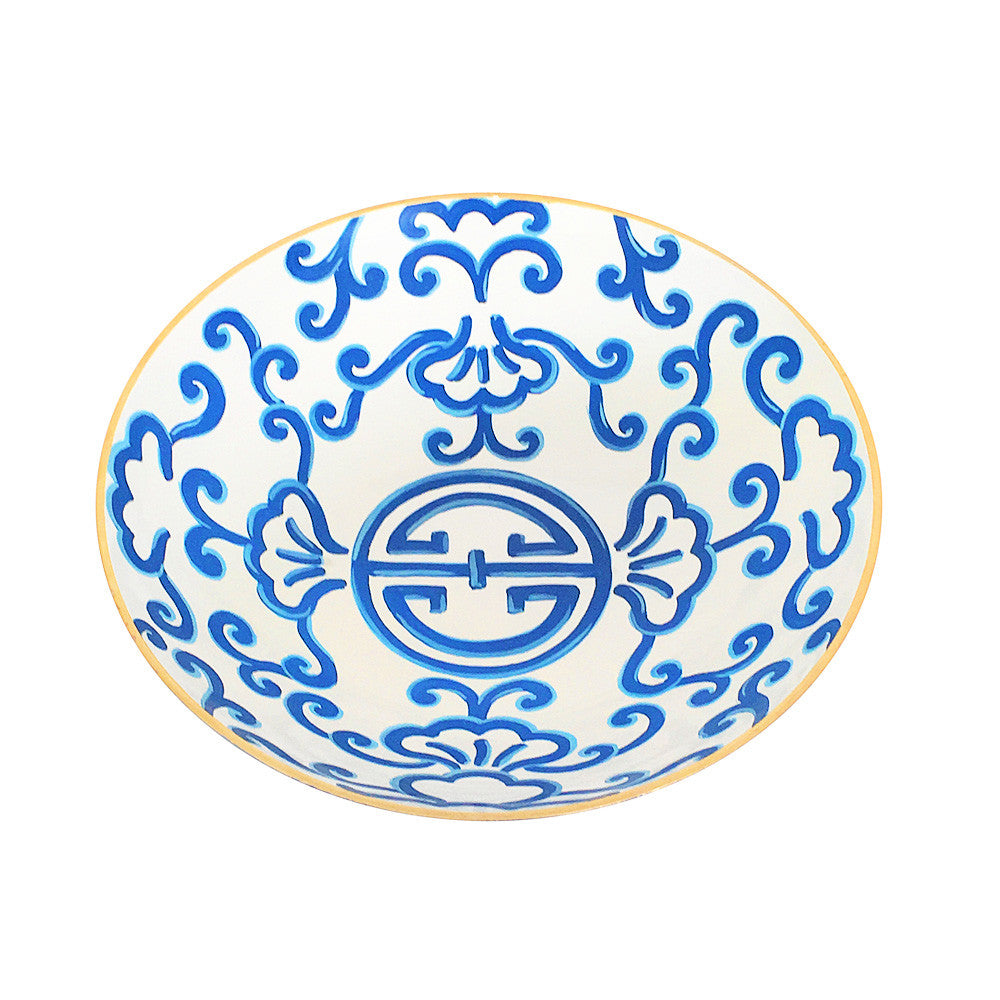 Large Blue Sultan Bowl