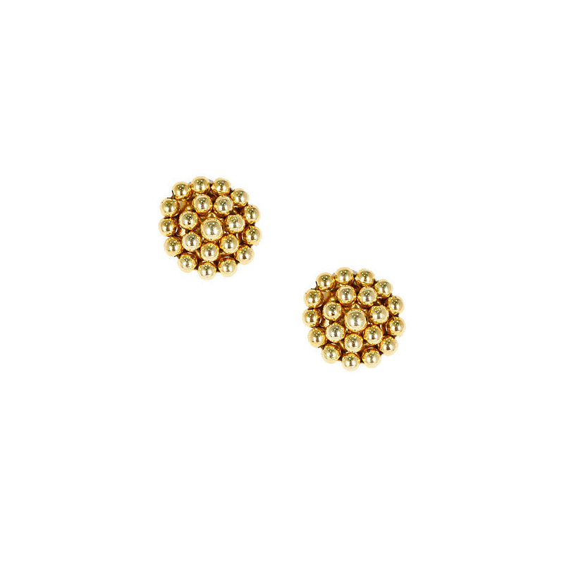 Lisi Lerch Gold Button Post Earrings - thegrovewp