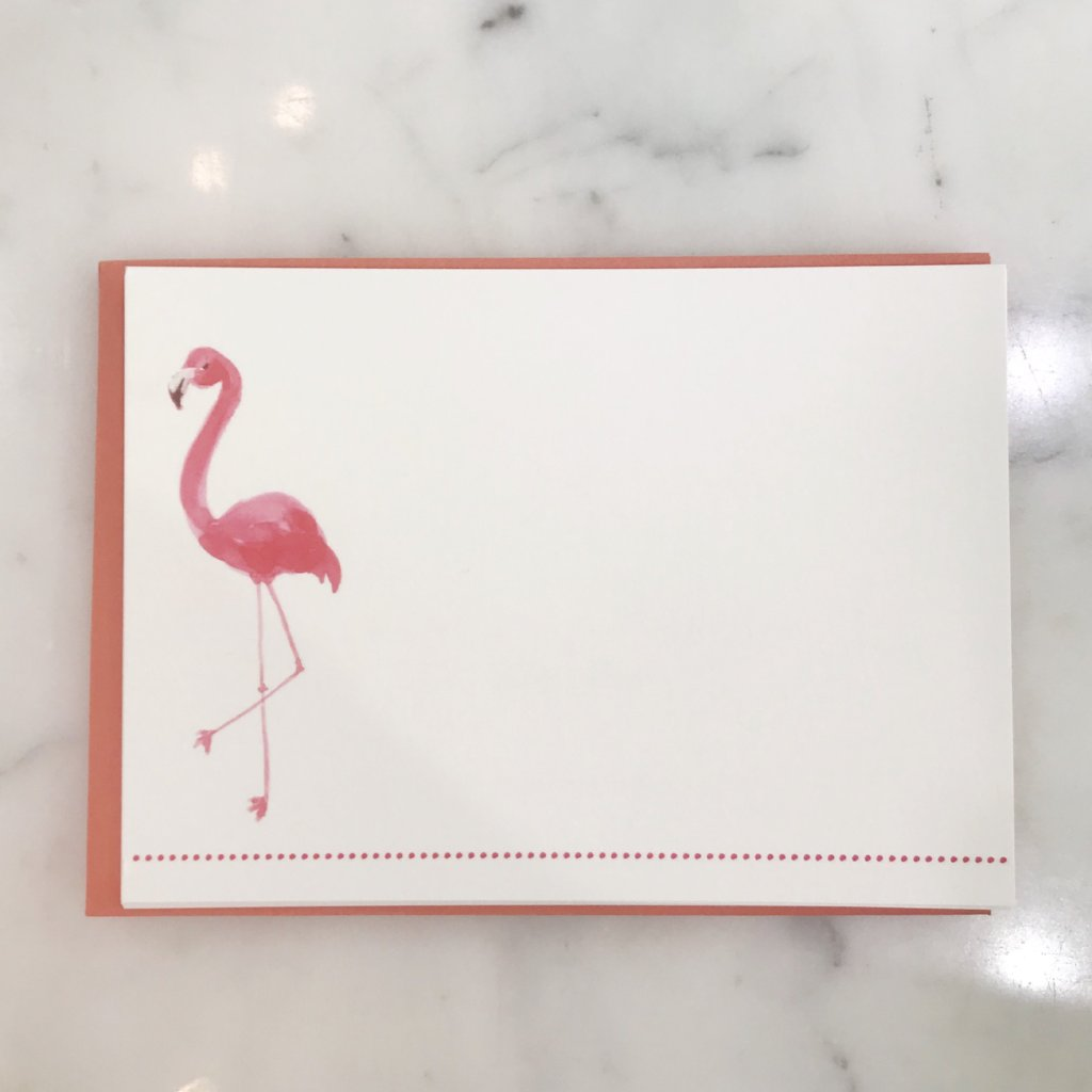 Fancy Flamingo Notecards-Giddy Paperie-The Grove