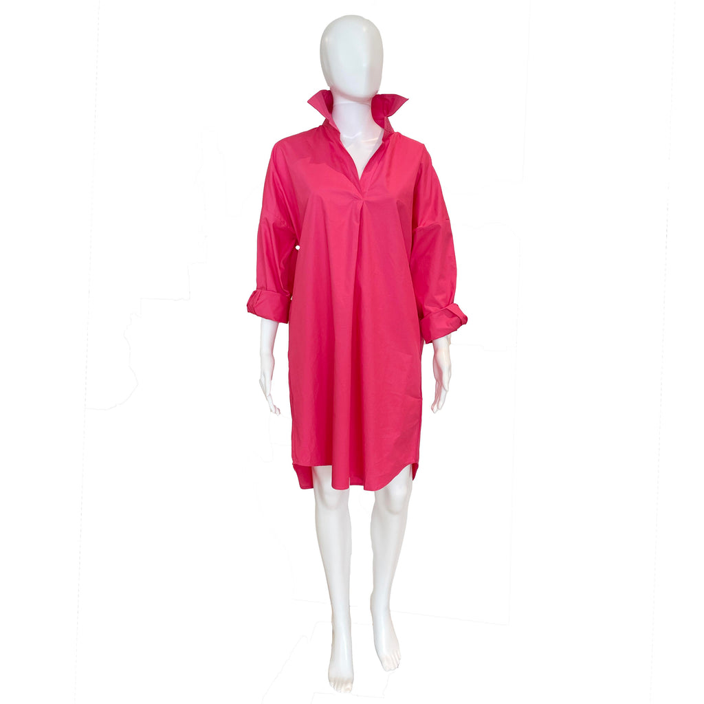 Preppy Star Shirtdress | Bright Pink