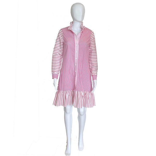 Plover Dress | Pink Stripe