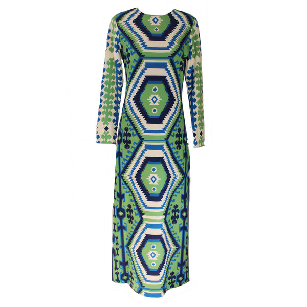 Ashton Dress | Kilim Green