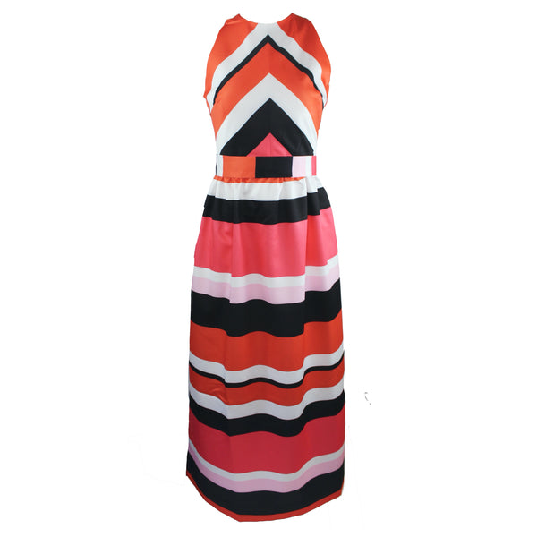 Diddle Dress | Striped Coral
