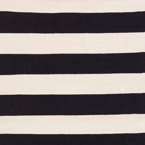 Catamaran Stripe Indoor/Outdoor Rug | Black & White