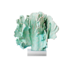 Two's Company Green Coral Sculpture on Base - thegrovewp