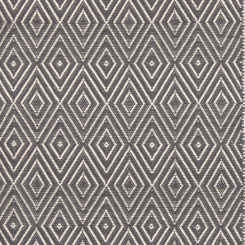 Graphite & Ivory Diamond Indoor/Outdoor Rug-Dash & Albert-The Grove