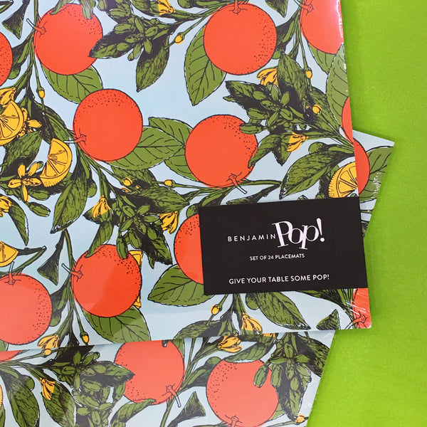 Benjamin Pop Citrus Party Place Mats - thegrovewp