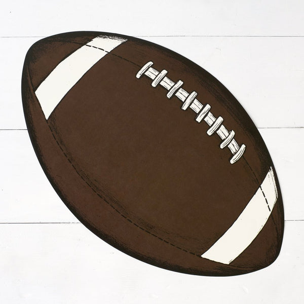 Hester & Cook Die-Cut Football Placemat Sheets - thegrovewp