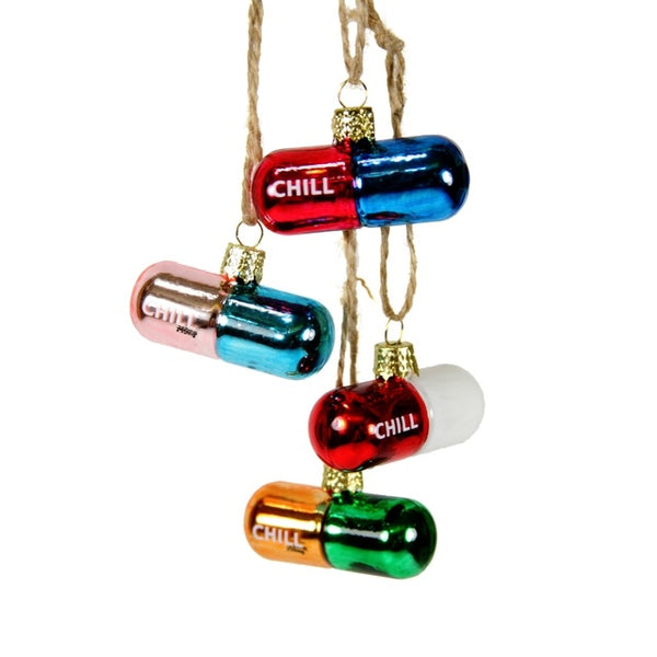 Chill Pill Ornament | Four Colors
