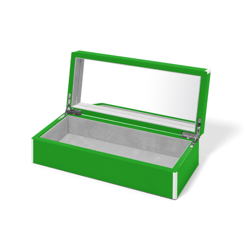 Swing Green Lacquer Jewelry Box - thegrovewp