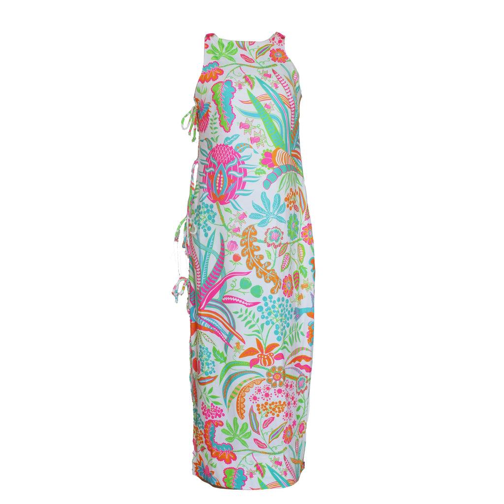 Side Tie Maxi Dress | Multi Hummingbird