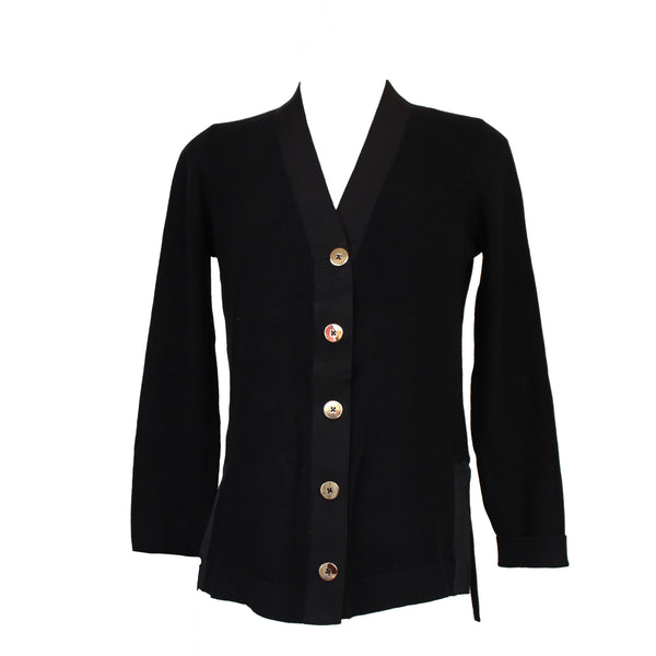 Grosgrain Cardigan | Black