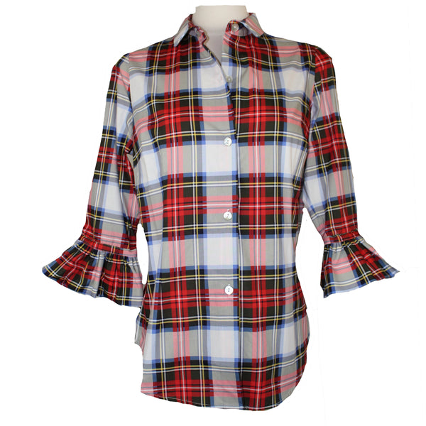 Priss Blouse | White Duke of York Plaid