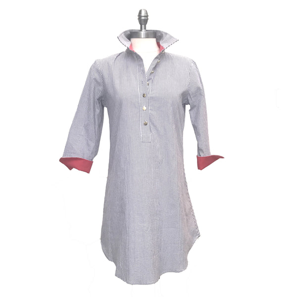 Seersucker Popover Dress