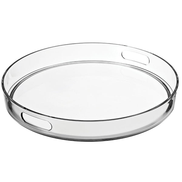 "15"" Round Tray with Handles 