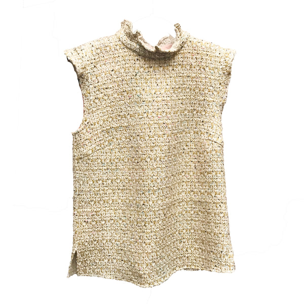 Adelaide Top | White Jazzy Tweed