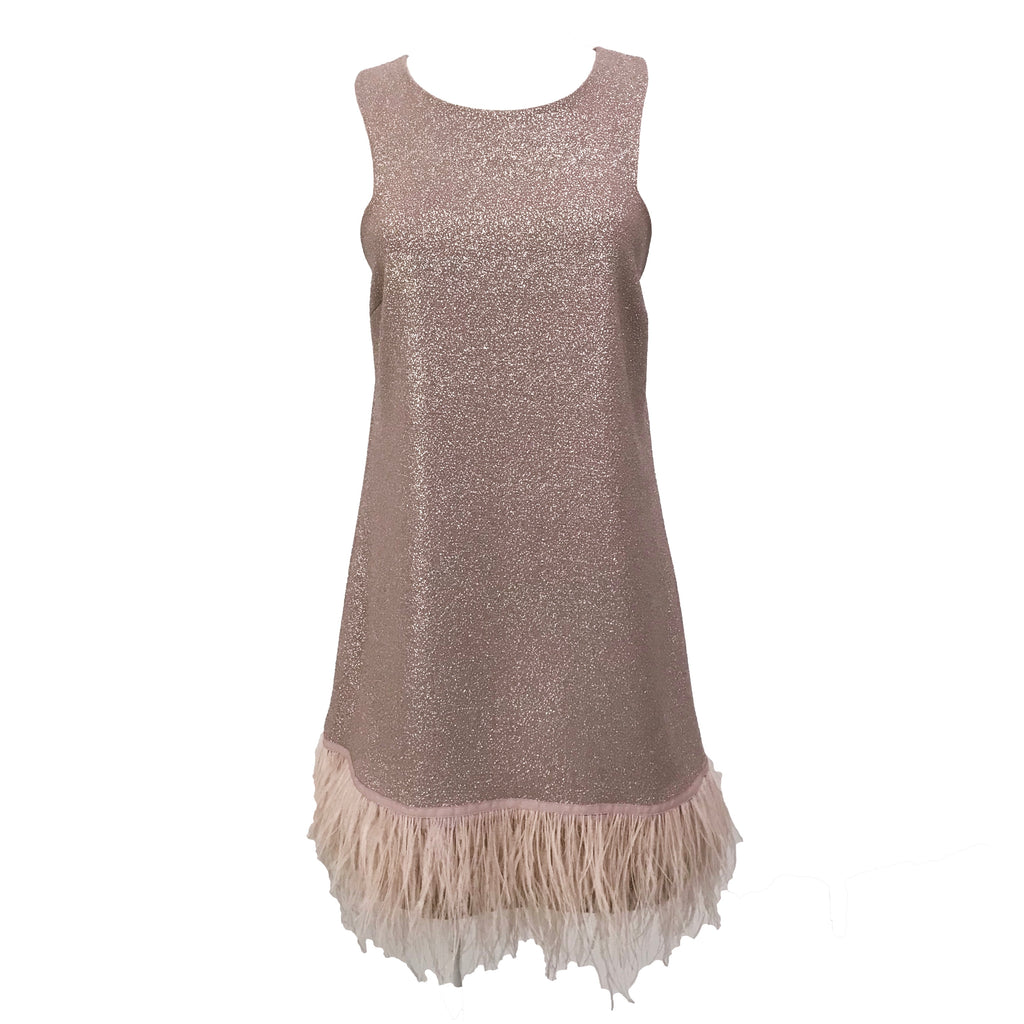 Diana Dress | Rose Gold & Feathers