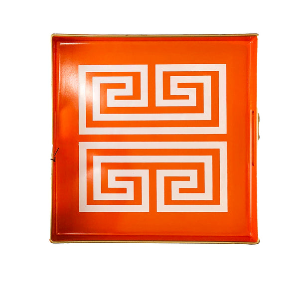 Greek Key Tray | Orange