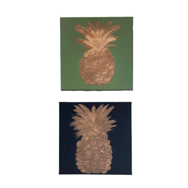 Pineapple Painting | Navy