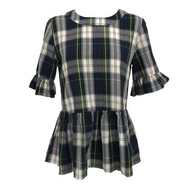 Betty B Top | Cambridge Plaid