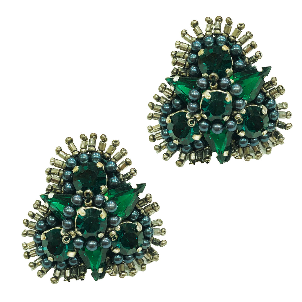 Anastasia Stud | Emerald-Mignonne Gavigan-The Grove