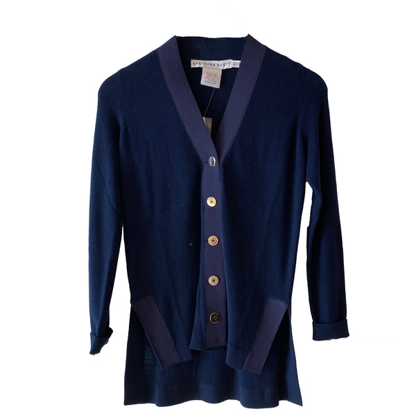 Grosgrain Heaven Cardigan | Navy