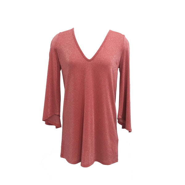 Knit Lurex Tunic | Pink