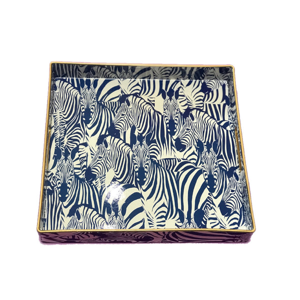 Square Tray | Blue Zebra