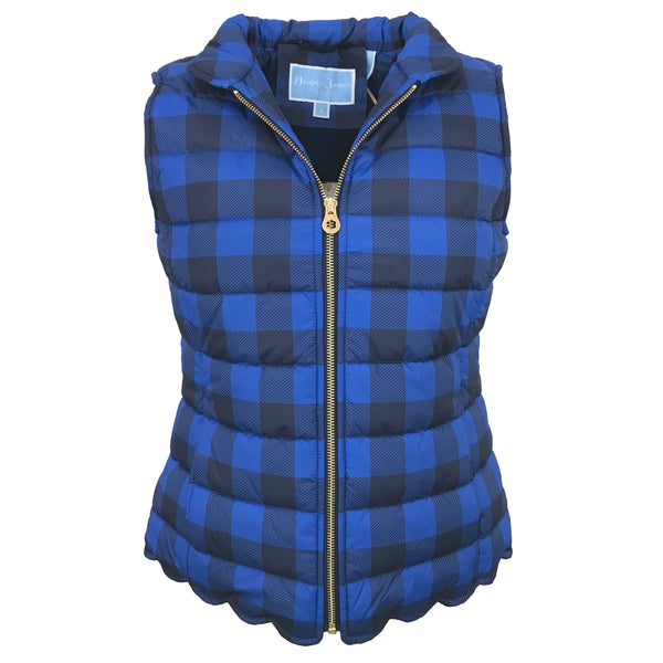 Buffalo Check Vest | Graceland Blue