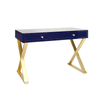 White Jared Desk with Gold Leaf-Worlds Away-The Grove