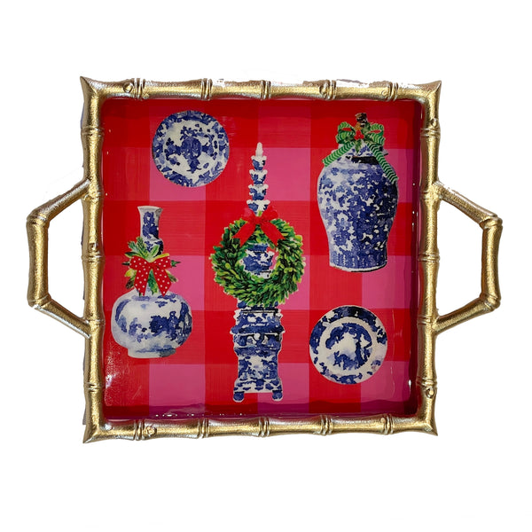 Buffalo Ginger Jar Enameled Chang Mai Tray