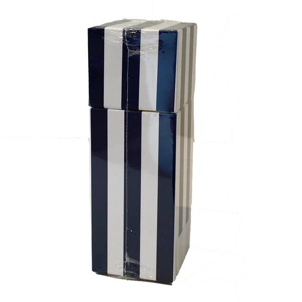 Small Square Box Matches | Blue & White Stripe
