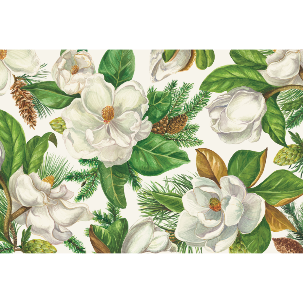 Paper Placemats | Magnolia Blooms