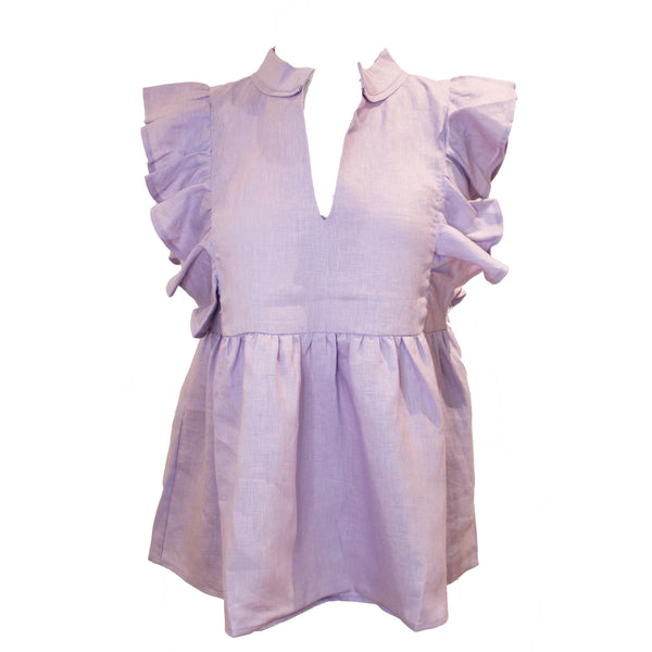 Brooks Top | Lavender Linen