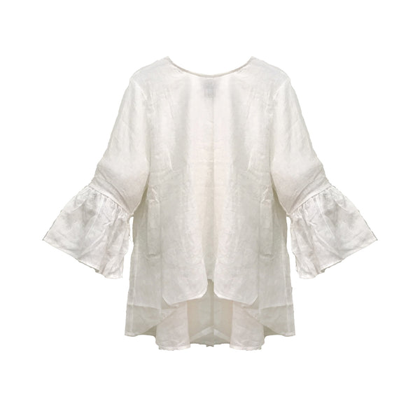 Linen Ivy Top | White