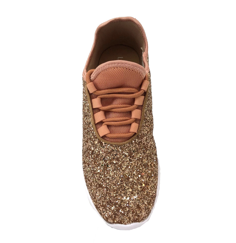 Glitter Sneaker | Rose Gold-Liliana-The Grove