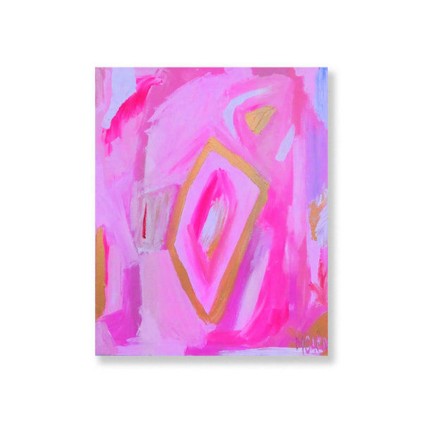 Megan Carn 'Open Windows in Pink Swirl' Acrylic on Canvas Painting - thegrovewp