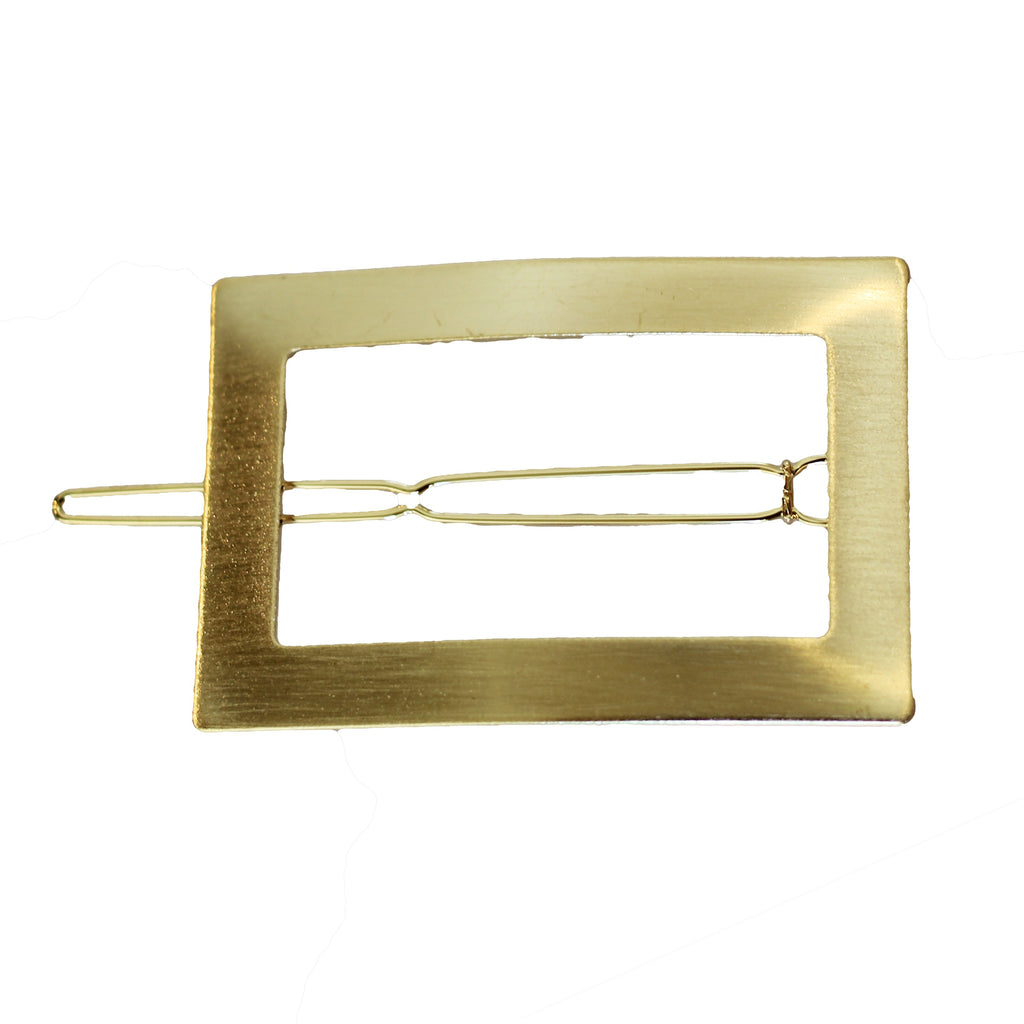 Rectangle Hair Clip | Gold