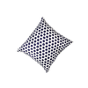 Navy Blue Embroidered Dot Pillow