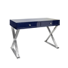Worlds Away White Jared Desk with Gold Leaf - thegrovewp