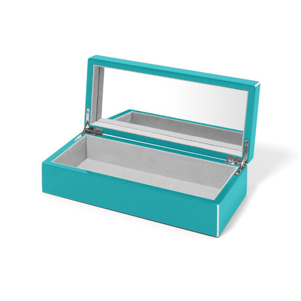 Swing Aqua Lacquer Jewelry Box - thegrovewp